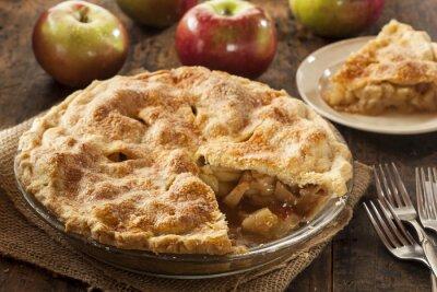 Wall mural Homemade Organic Apple Pie Dessert