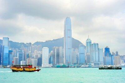 Wall mural Hong Kong ferry