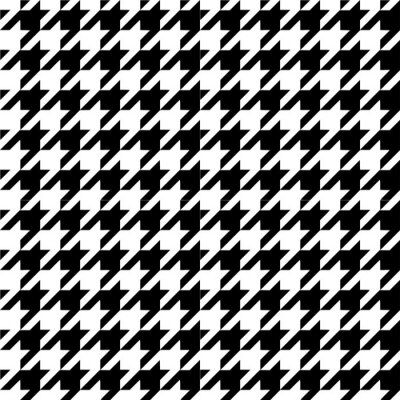 Wall mural Houndstooth pattern