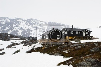Houses in the tundra, Norway