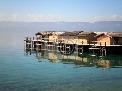 Houses Over Lake