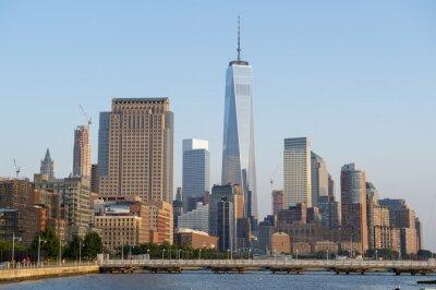 Wall mural Hudson River skyline view of Downtown Manhattan New York City