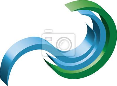 Hydropower Logo 3d 2