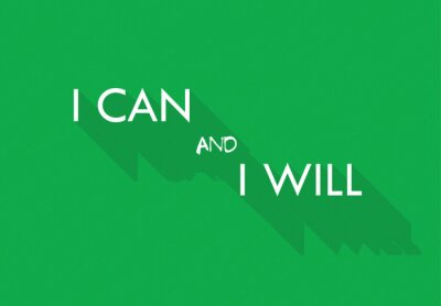 Wall mural I can and I will