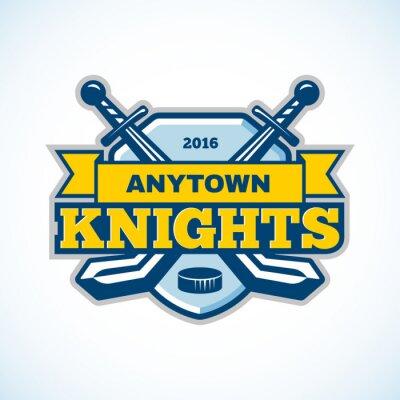 Wall mural Ice hockey knights team logo.