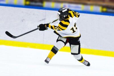 Wall mural Ice hockey player - Slap shot