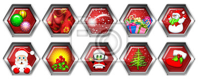 Icone Natale-Christmas Icones-Icônes Noël