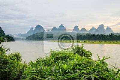 idyllic landscape from li river china