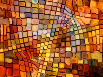 Wall mural Illusion of Stained Glass