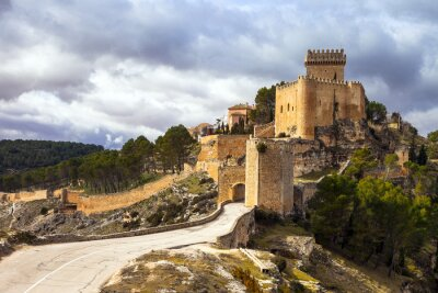 Wall mural impressive medieval castle Alarcon, Spain