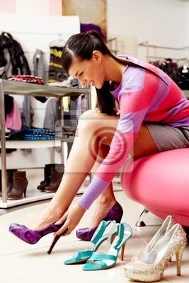 In footwear department