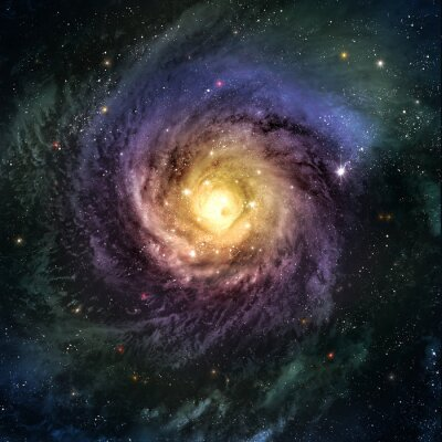 Wall mural Incredibly beautiful spiral galaxy somewhere in deep space