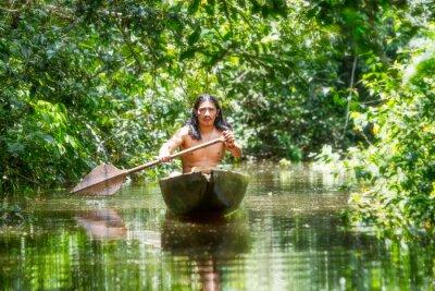 Wall mural Indigenous Wooden Canoe