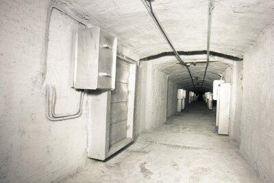 Wall mural industrial interior of vantilation system tunnel