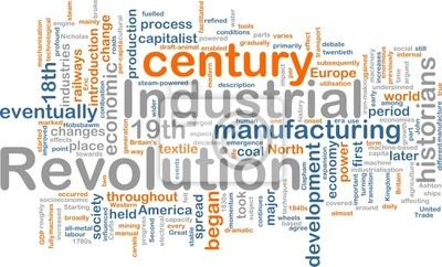 Industrial revolution word cloud