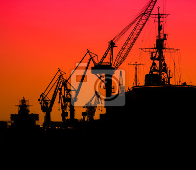 Industrial sea port