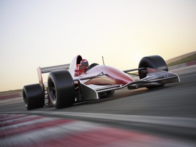Wall mural Indy car racer with blurred background