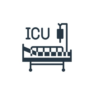 Wall mural intensive care unit icon. Glyph intensive care unit icon for website design and mobile, app development, print. intensive care unit icon from filled covid virus pandemic collection isolated on white .