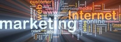 Internet marketing word cloud box package