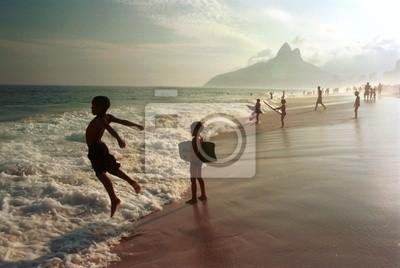 Wall mural Ipanema beach, Rio de Janeiro, Brazil