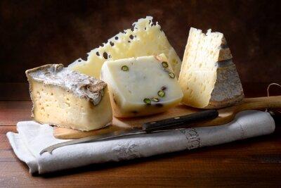 Wall mural Italian cheeses