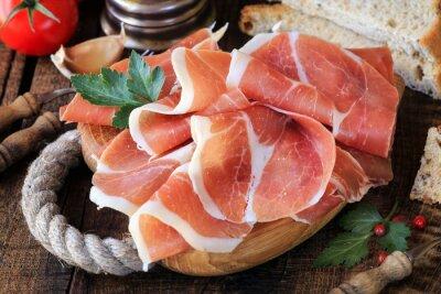 Wall mural Jamon serrano - Spanish cured ham or Italian prosciutto