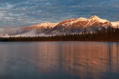 Wall mural Jasper National Park sunrise Canada