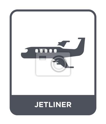 Wall mural jetliner icon vector