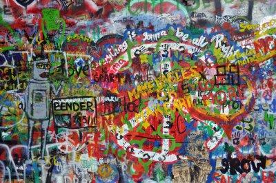 Wall mural John Lennon wall in Prague
