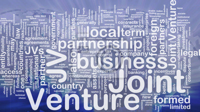 Joint venture background concept