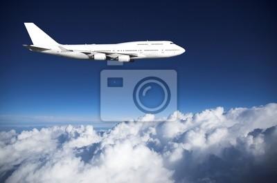 Jumbo jet  above clouds