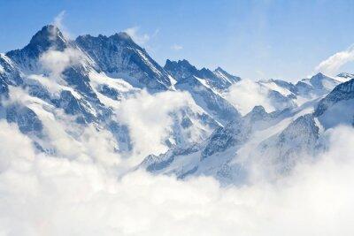 Wall mural Jungfraujoch Alps mountain landscape