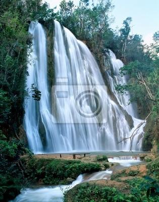 Wall mural Jungle waterfall in Dominicana