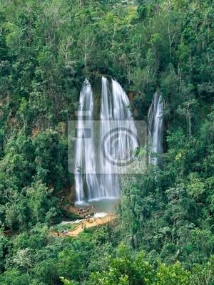 Jungle waterfall in Dominicana