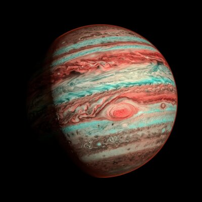 Wall mural Jupiter isolated planet