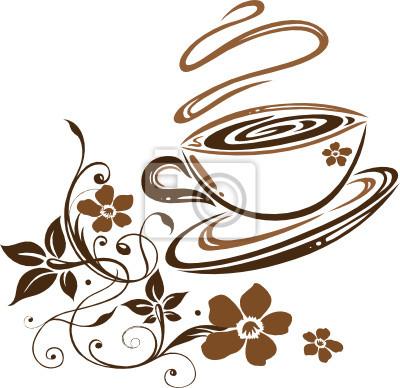 Kaffee, Cafe, Kaffeetasse, Blumen, floral