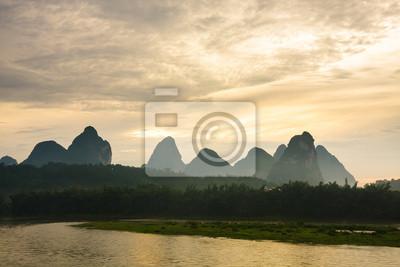 Karst mountains at li river china