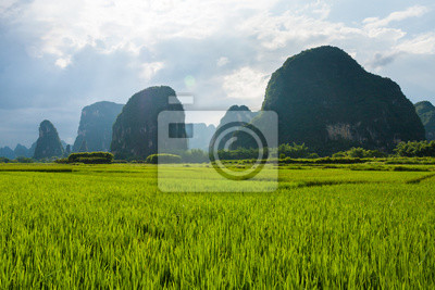 Karst mountains in yangshuo china