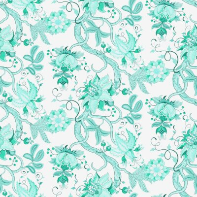 Wall mural Katherine Floral Seamless Pattern