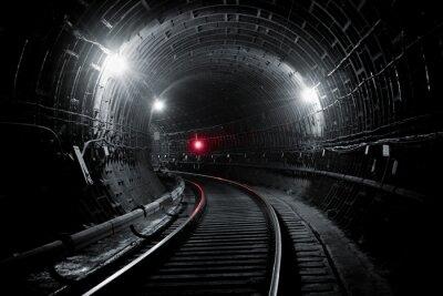 Wall mural Kiev subway tunnel