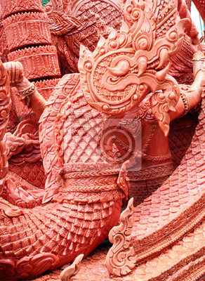 King of Naga carving candle festival
