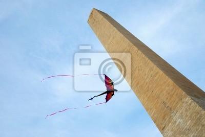 Kite and George Washington Monument, Washington DC
