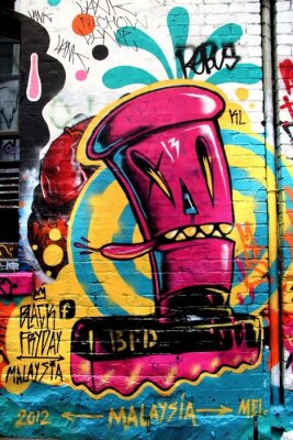Wall mural L.A street, Melbourne