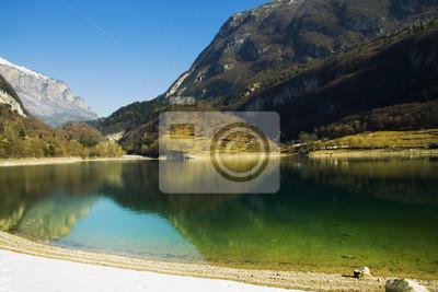 Wall mural Lago di Tenno, Trentino, Italy