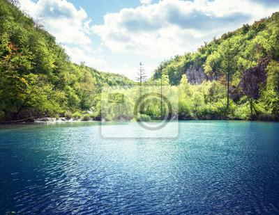 lake in forest of Croatia