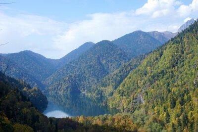 Lake Ritsa. Abkhazia. Fall 2019.