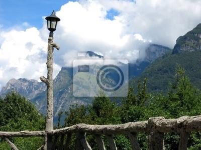 Lamp Fence Alps Italy