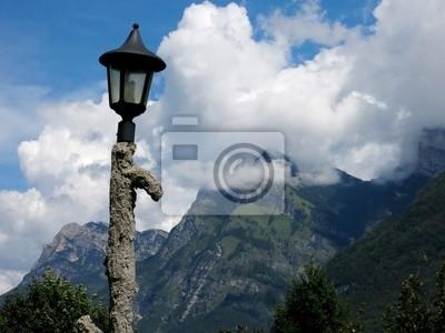 Lamp Pole Alps Italy