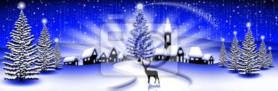 Landscape Christmas Landscape Christmas Blu- Paysage - Noël -Banner