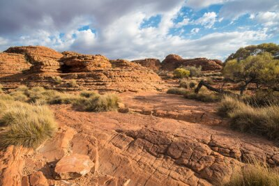 Wall mural Landscape of the Kings canyon in the Northern Territory, Australia.